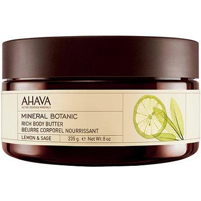 AhavaOnline Only Mineral Botanic Body Butter Lemon & Sage
