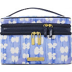 Blue Aster Double Zip Train Case