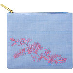 Tartan + TwineBlue Aster Square Clutch Embroidery