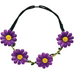 Burmax Purple Daisy Headband