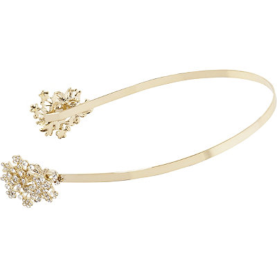 Kardashian Beauty Online Only Gold Floral Rhinestone Head Band