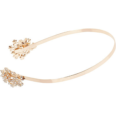 Kardashian Beauty Online Only Rose Gold Floral Rhinestone Head Band