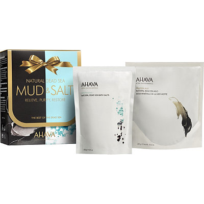 Ahava Natural Dead Sea Body Mud %26 Natural Bath Salt Duo