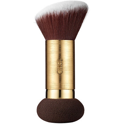 Double Duty Beauty Powder Foundation Brush & Removable Sponge
