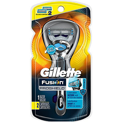 Gillette Fusion ProShield Chill Men%27s Razor With FlexBall Handle and Refills
