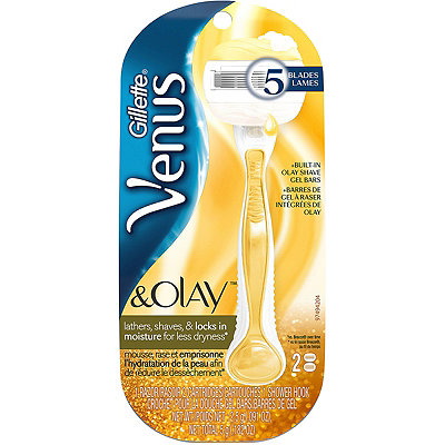 Gillette Venus %26 Olay Gold Women%27s Razor With Refills