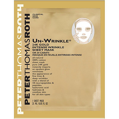 Peter Thomas Roth Travel Size Un-Wrinkle 24k Gold Intense Wrinkle Sheet Mask