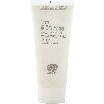 Whamisa Online Only Organic Flowers Foam Cleansing Cream