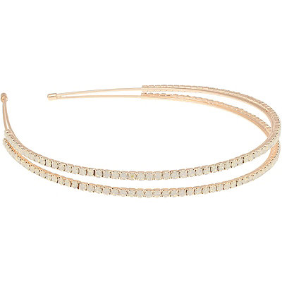 Capelli New York Rose Gold Double Gems Headband