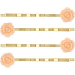 Capelli New York Antique Gold Metal Bobby Pins with Rosettes