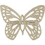 Capelli New YorkGold Glitter Butterfly Clip