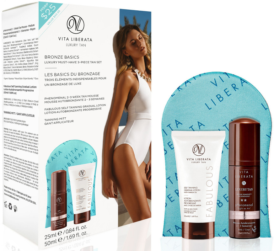 Vita Liberata Bronze Basics - Must-Have Luxury 3-Piece Tan Set ...