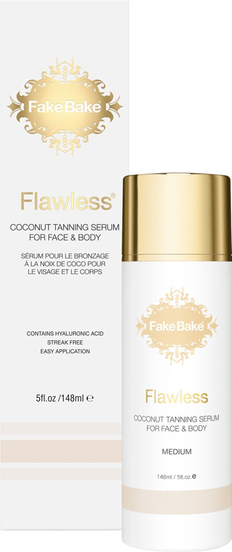 Fake Bake Flawless Coconut Tanning Serum for Face & Body, 148 ml / 5 oz-Pack of 2 Yes To Grapefruit Dark Spot Correcting Serum, 1 oz (Pack of 3) + Schick Slim Twin ST for Dry Skin