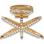 Gold Rhinestone Jaw Clip