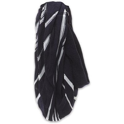 ElleNavy %26 White Wide Stripe Head Wrap