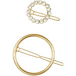 Gold Circle Ring Barrette