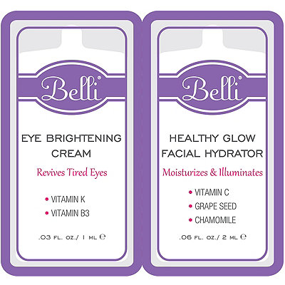 BelliOnline Only FREE Healthy Glow Facial Hydrator %26 Eye Brightening Cream sample w%2Fany Belli purchase