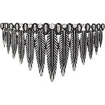 Silver Feather Bun Comb
