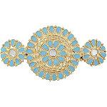 Gold & Turquoise Medallion Barrette