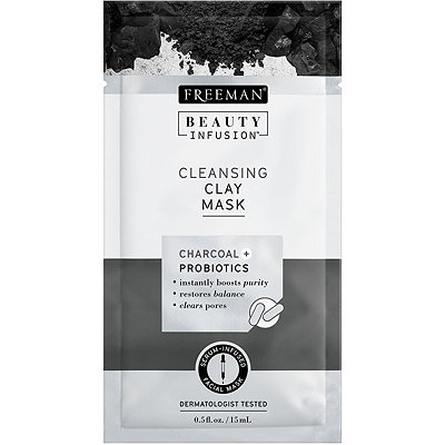 Travel Size Cleansing Clay Mask with Charcoal + Probiotics