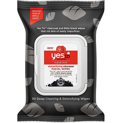 Yes to Tomatoes Clear Skin Detoxifying Charcoal Facial Wipes