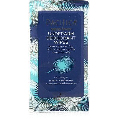 Pacifica Travel Size Underarm Deodorant Wipes with Coconut Milk %26 Essential Oils