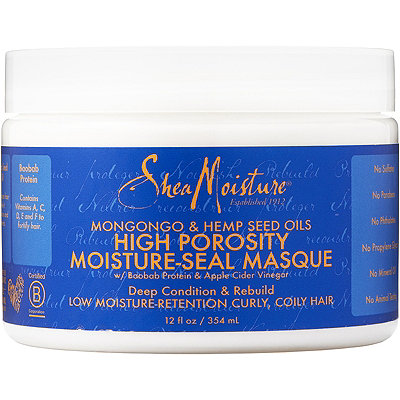 SheaMoisture Mongongo %26 Hemp Seed Oils High Porosity Moisture-Seal Masque