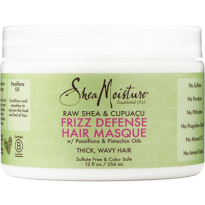 SheaMoisture Raw Shea %26 Cupua%C3%A7u Frizz Defense Hair Masque