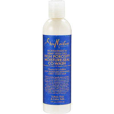 SheaMoisture Mongongo %26 Hemp Seed Oils High Porosity Moisture-Seal Co-Wash