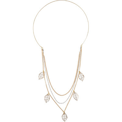 Riviera Hanging Metal Leaf Chain Head Band