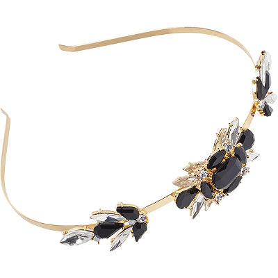 Riviera Metal Jeweled Broach Head Band