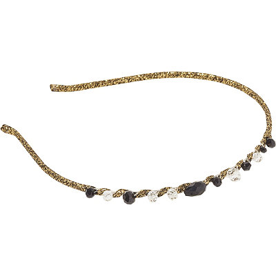 Karina Gold Thread and Beaded Head Band