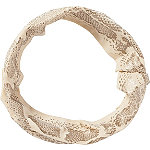 Metallic Print Tan Head Wrap