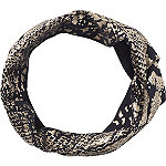 Head Wrap Metallic Print Black
