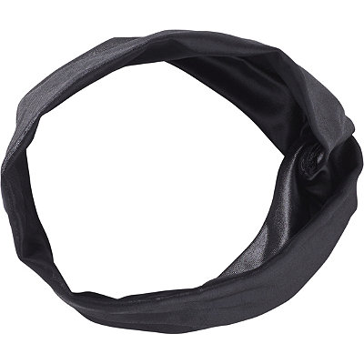 Elle Twisted Black Leather Head Wrap