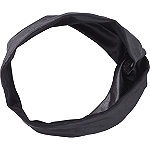 Twisted Black Leather Head Wrap
