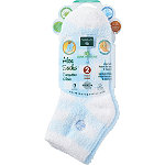 Earth Therapeutics Plaid & Solid Blue Aloe Socks