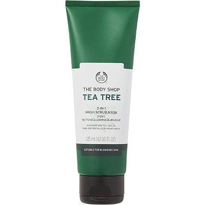 The Body ShopTea Tree 3 in 1 Wash Scrub Mask