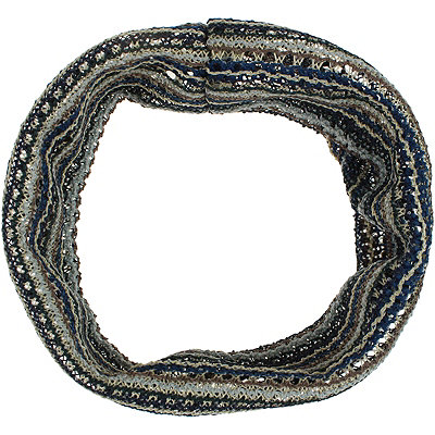 Capelli New YorkCrochet Stripe Navy Head Wrap