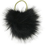 Oversized Pom Black Pony Holder
