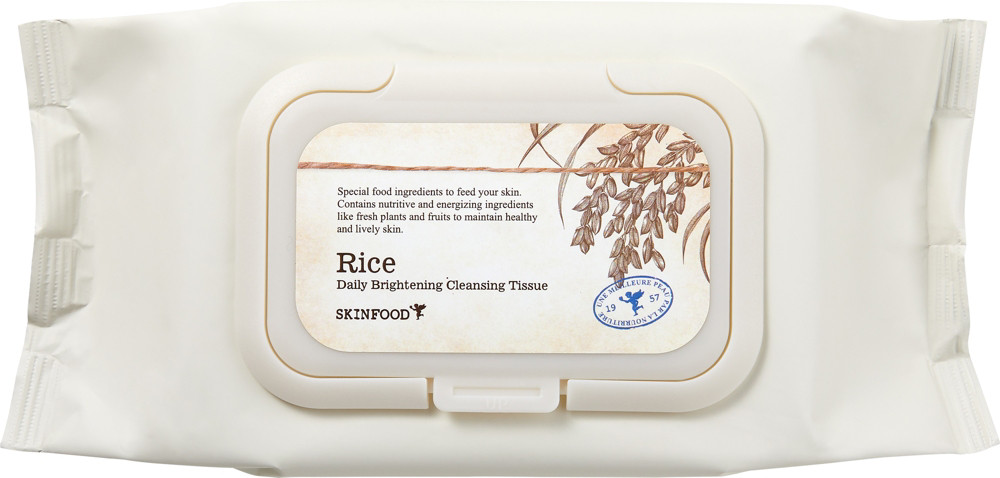 Rice Brightening Facial Cleansing Tissues