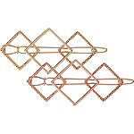 Geo Jean Wire Gold Barrette