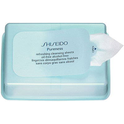 ShiseidoOnline Only Pureness Refreshing Cleansing Sheets Oil-Free Alcohol-Free