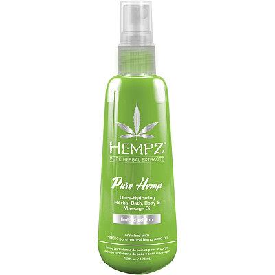 HempzLimited Edition Pure Hemp Herbal Bath%2C Body %26 Massage Oil