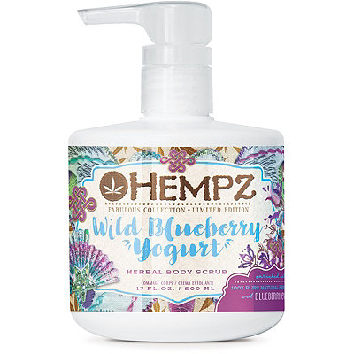 HempzFabulous Collection Limited Edition Wild Blueberry Yogurt Body Scrub