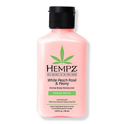 Travel Size White Peach Rosé & Peony Herbal Body Moisturizer