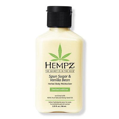 HempzTravel Size Spun Sugar & Vanilla Bean Herbal Body Moisturizer
