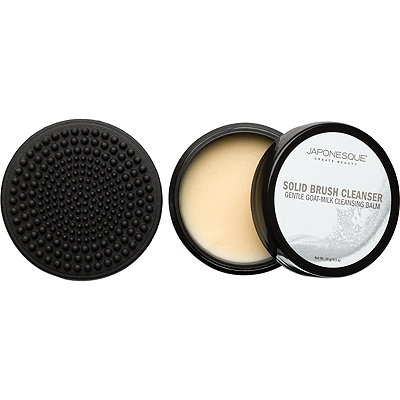 Japonesque Mini Solid Brush Cleanser with Scrubbing Pad