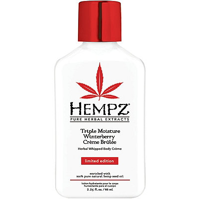 HempzLimited Edition Travel Size Triple Moisture Winterberry Cr%C3%A8me Brule Herbal Whipped Body Cr%C3%A8me