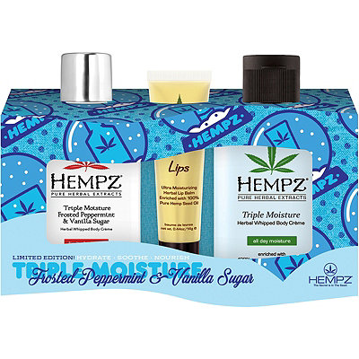 Hempz Frosted Peppermint %26 Vanilla Naughty %26 Nice Set